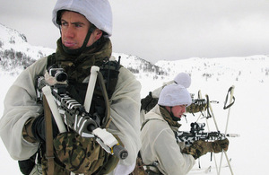 Royal Marines reservists training in the Arctic