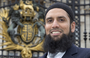 Imam Asim Hafiz [Picture: Petty Officer (Photographer) Derek Wade, Crown copyright]