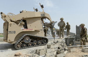 Royal Engineers repairing the Basharan bridge in Afghanistan [Picture: Sergeant Barry Pope RLC, Crown copyright]