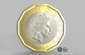 The new £1 coin.