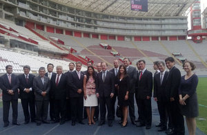 UK companies explore business opportunities in transport and sports infrastructure in Peru