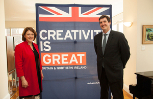 Maria Miller and Deputy Consul General Nick Astbury