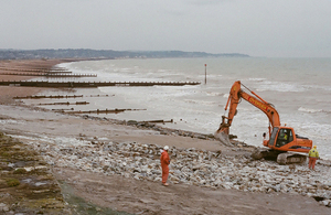 Work to repair sea defences at Hythe [Picture: Crown copyright]