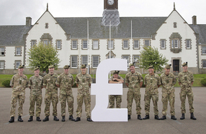 Soldiers promoting the MoneyForce training programme [Picture: www.tinanorris.co.uk]
