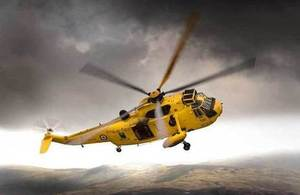 Mountain rescue helicopter: photo by the Ministry of Defence