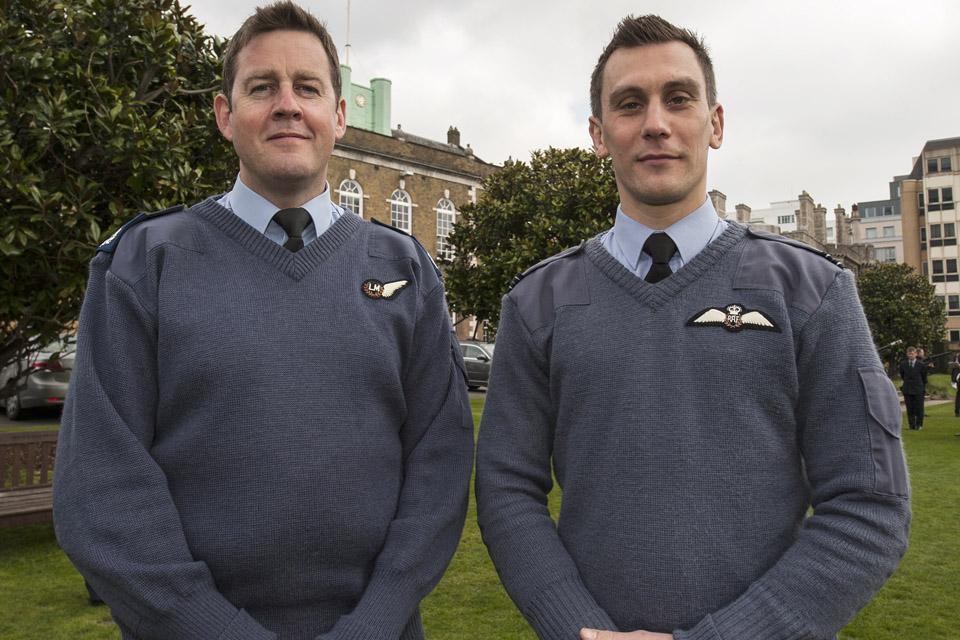 Master Aircrew Bob Sunderland and Flight Lieutenant Charlie Lockyear