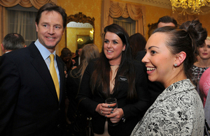 Nick Clegg with STEM apprentices