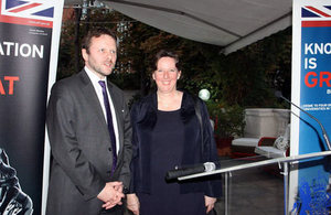Professor Colin Grant from the University of Bath, and Ambassador Fiona Clouder.
