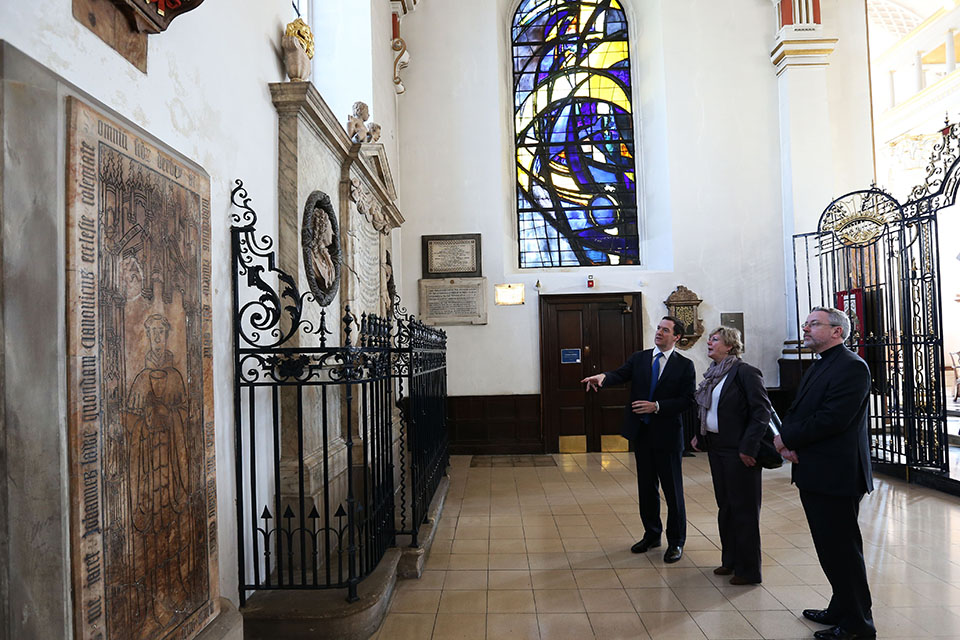 Chancellor inside Derby Cathedral