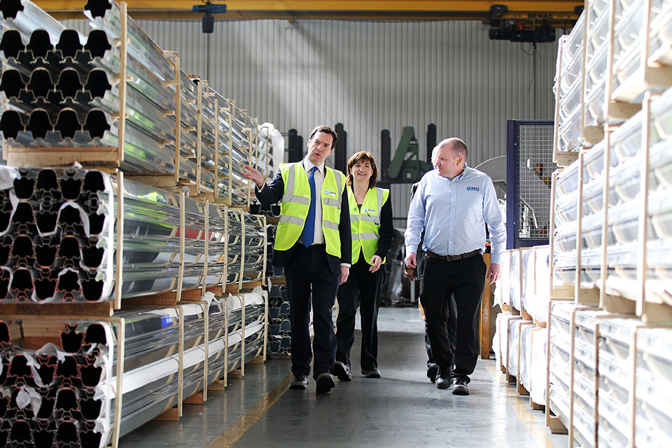 Chancellor touring Boal factory
