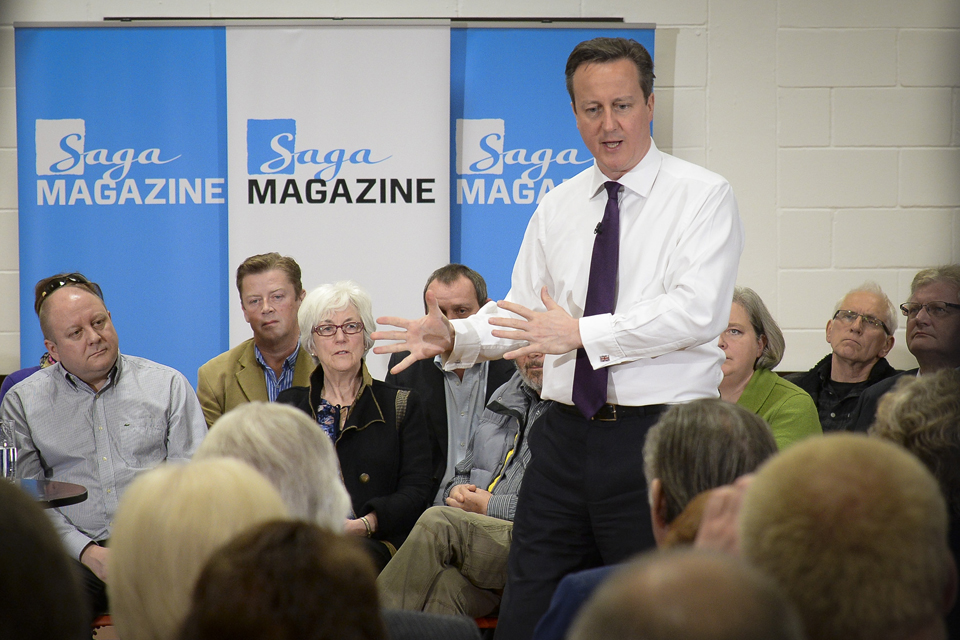 David Cameron speaking in Brighton