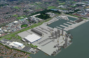 The proposed turbine construction, assembly and service facility in Hull
