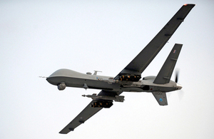 An RAF Reaper remotely piloted air system over Afghanistan (library image) [Picture: Petty Officer Airman (Photographer) Tam McDonald, Crown copyright]