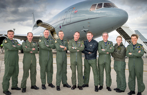216 Squadron personnel with a TriStar aircraft at RAF Brize Norton [Picture: Squadron Leader Dylan Eklund, Crown copyright]