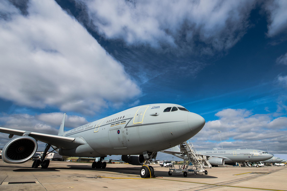 The Royal Air Force's new Voyager aircraft