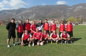 Members of the KSF who tried out for the representative football team in April