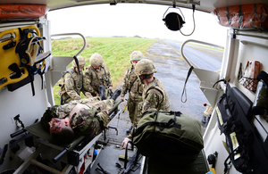 Medics load a casualty into an ambulance during an exercise (library image) [Picture: Leading Airman (Photographer) Joel Rouse, Crown copyright]