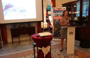 Acting High Commissioner Judith Slater delivering her opening remarks