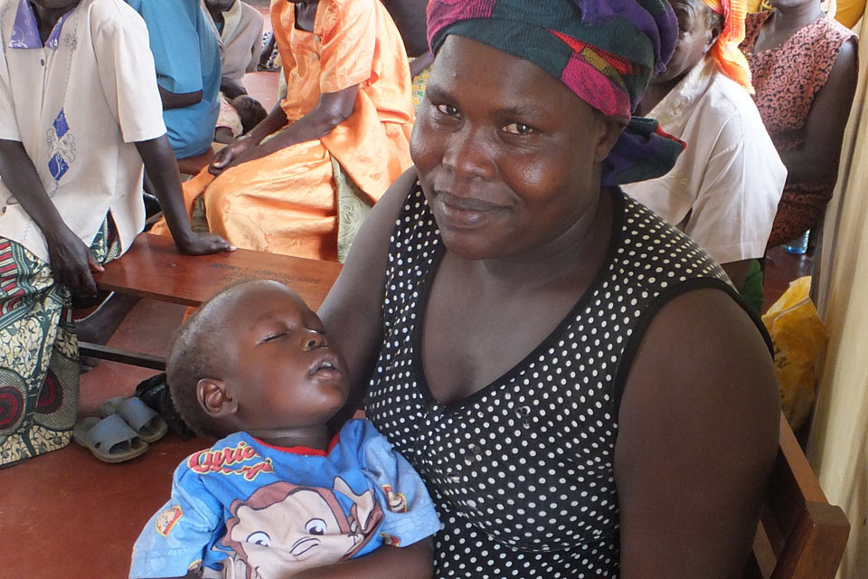 Agnes with her son Sunday at a Motivation training session. Picture: Motivation