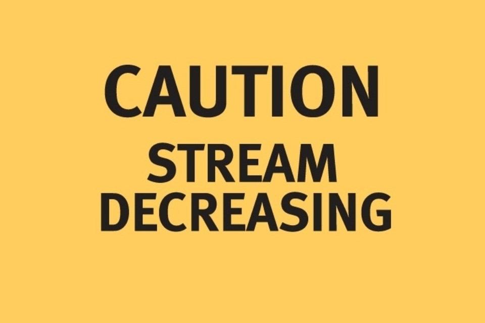 Stream decreasing warning