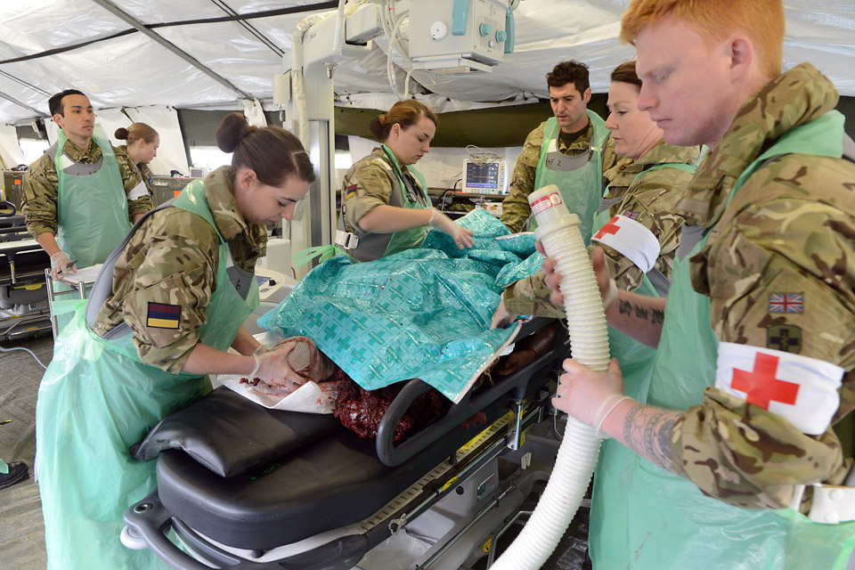 A fully operating field hospital