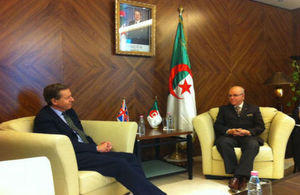 Lord Risby with his Algerian counterpart Mr. Youcef Yousfi
