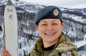 Aircraftwoman Sarah McGhin, Royal Air Force Reserves [Picture: Crown copyright]