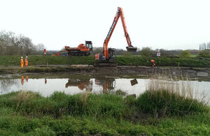 Dredging starts on the Somerset Levels
