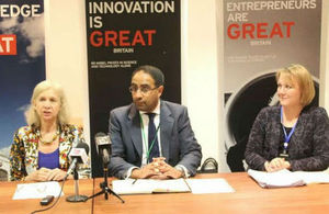 British High Commissioner-Dianna Melrose (left) Kashif Chaudry-Regional Director Africa-UK Visas and Immigration (center) and Rebecca Hadlow (Right)