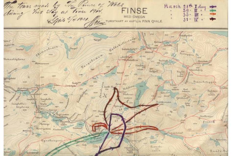 Map of Finse routes