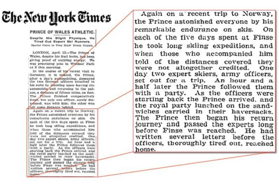 Media coverage of PoW visit to Finse 1914