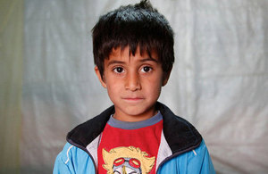 5 year old refugee from near Aleppo, Syria.