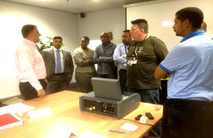 Hand over of aviation security equipment at OR Tambo airport