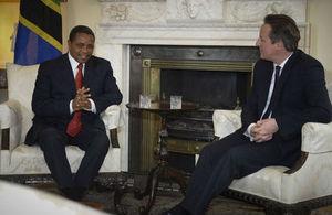 H.E President Jakaya Kikwete and H.E Prime Minister David Cameron
