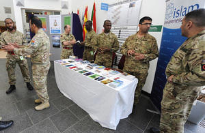 Muslim soldiers promote Islam Awareness Week at the British Army's headquarters in Andover (library image) [Picture: Shane Wilkinson, Crown copyright]