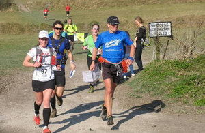 Runners competing in the first Imber Ultra Marathon [Picture: Crown copyright]