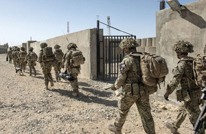 British soldiers leaving Main Operating Base Lashkar Gah on 1 March 2014 (library image) [Picture: Corporal Ross Fernie, Crown copyright]