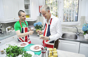 British Ambassador Simon Manley gets cooking with three Michelin star chef David Muñoz