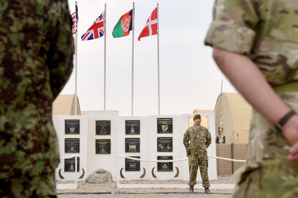 The ceremony to mark the end of Task Force Helmand