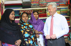 Alan Duncan visits Rana Plaza survivors in Bangladesh