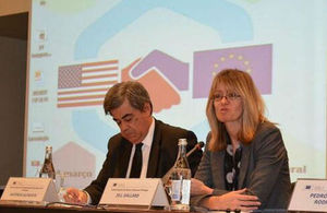 British Ambassador Lisbon speaking at a TTIP conference in Lisbon