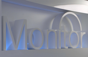 Monitor's reception sign