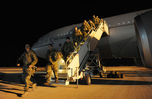 British service personnel arriving at Camp Bastion in Afghanistan (library image) [Picture: Sergeant Si Pugsley RAF, Crown copyright]