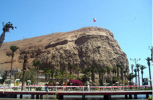 City of Arica in northern Chile.