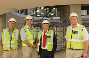 Sir David King tours the new headquarters of Dept of Environmental Affairs site