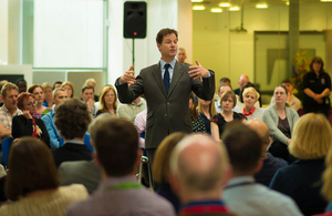Nick Clegg at NAPP Pharmaceuticals.