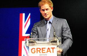 Princípe Harry lança Campanha GREAT no Brasil
