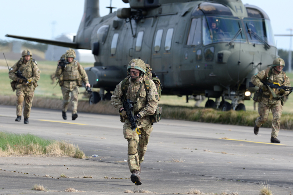 Paratroopers from 16 Air Assault Brigade