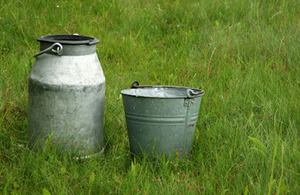 milk churn and bucket