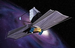 Artist impression of the James Webb space telecope.